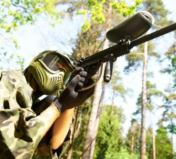 Playing Paintball Outdoors